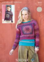 Sirdar Giselle Aran - 9895 Ladies and Childrens Jumpers Pattern